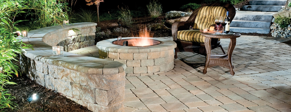 outdoor fire pit landscape design