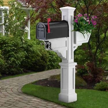 designer mailbox posts